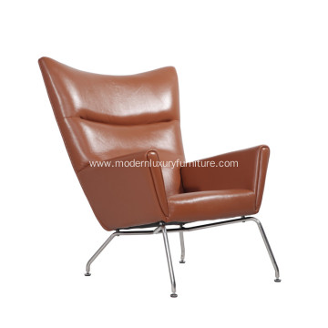 Hans J. Wegner CH445 Leather Wing Chair Replica