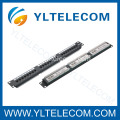 1U 19 inch 24 port(3*8) Patch Panel Cat.5e and Cat.6 type