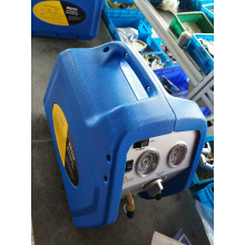 Portable commercial refrigerant recovery machine
