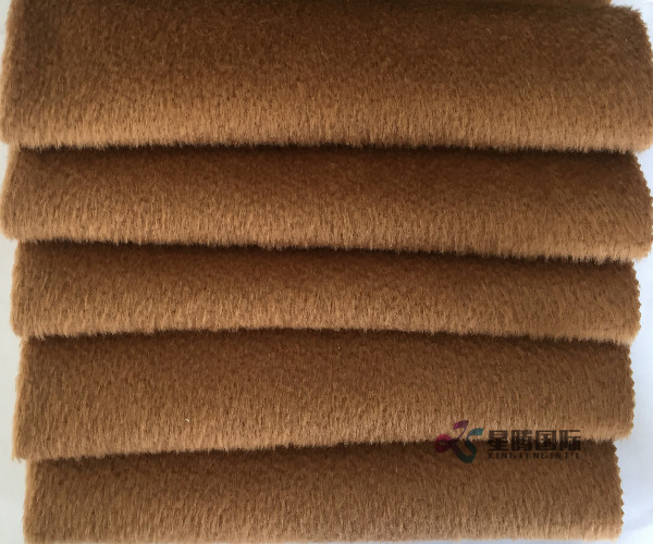 Worsted Woven Wool Tweed Fabric For Winter Overcoat