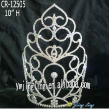 Holiday Fashion Rhinestone Crown And Tiara