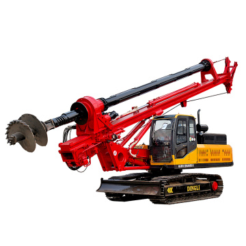 Tracked portable pile driver for construction site