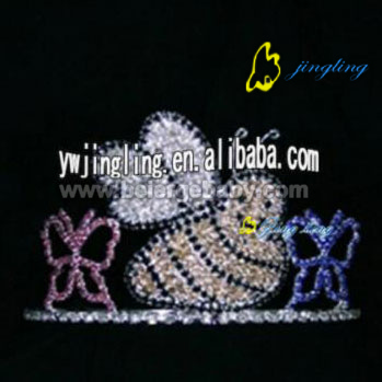 Large tiaras animal rhinestone crown for sale CR-12064