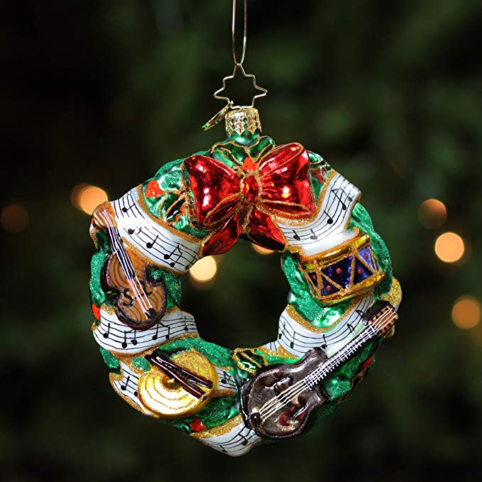 Glass Christams Wreath Ornament