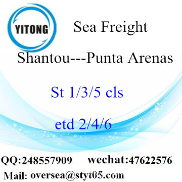 Shantou Port LCL Consolidation To Punta Arenas