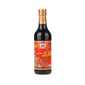 500mL Fresh Light Soy Sauce in Glass Bottle