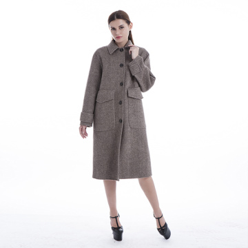 Stor pocket sillbens cashmere coat