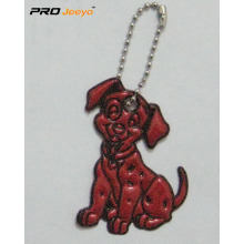 Reflective PVC Red Dog Key Chain For Bag