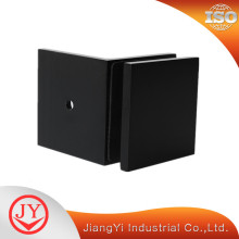 Solid Square Wall Mount Clamp Black