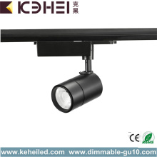 Black LED Track Lights 20W Pure White 4000K