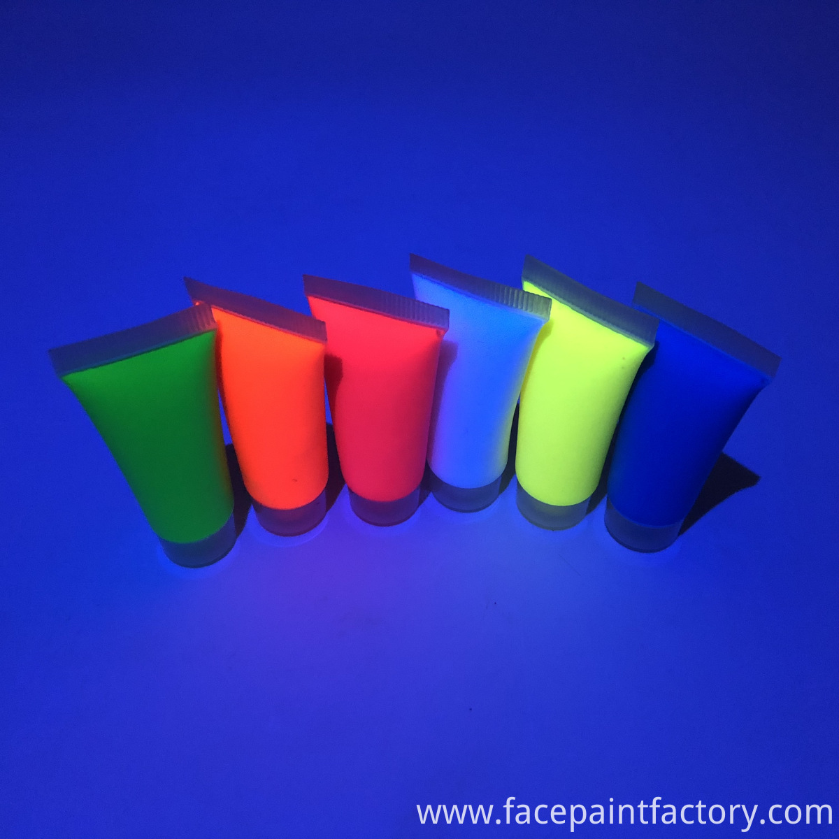 black light reactive face paint