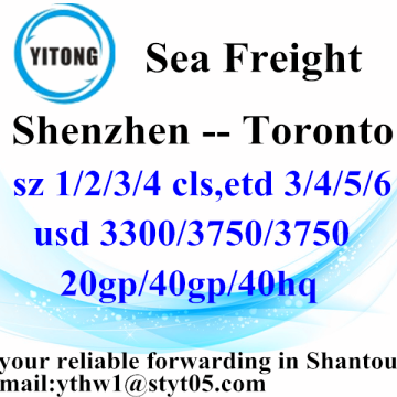 Shenzhen to Toronto Logistics Forwarding Service