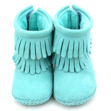 OEM Supply for Winter Baby Boots Colorful Handmade Genuine Leather Baby Fringe Boots export to Russian Federation Manufacturers