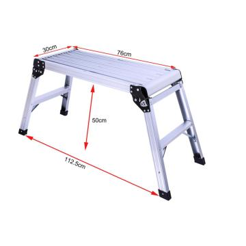 easy to operate aluminum platform ladder