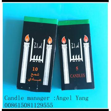 10pcs Libya paraffin black box wax candle