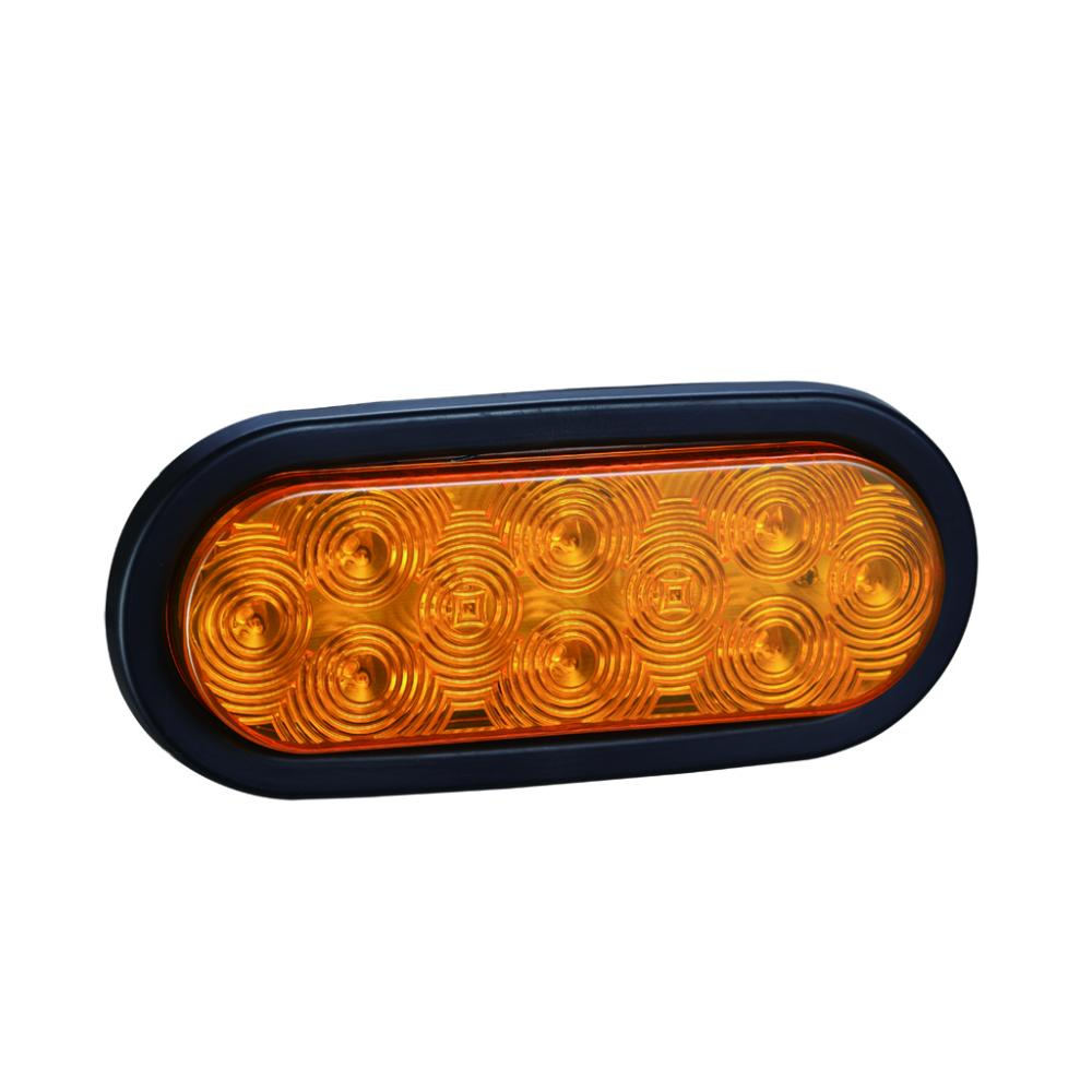 "6""Oval Amber LED Truck Trailer Indicator Turn Lights"