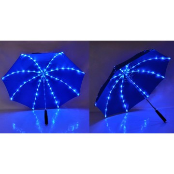 Kids umbrella with LED light on ribs