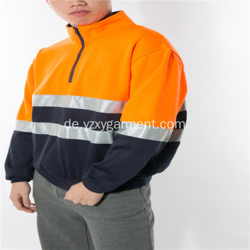 Orange Fleece-Fleece-Arbeitskleidung