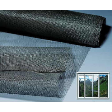 black fiberglass window screen