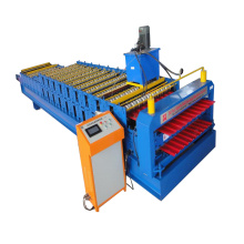 Europe style for Ibr Panel Wall Double Deck Roll Forming Machine IBR Metal Plate Double Layer Roll Forming Machine export to Jamaica Importers