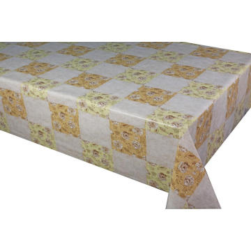 Pvc Printed fitted table covers for White Table