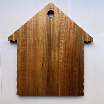 House shaped wooden fruit cutting board