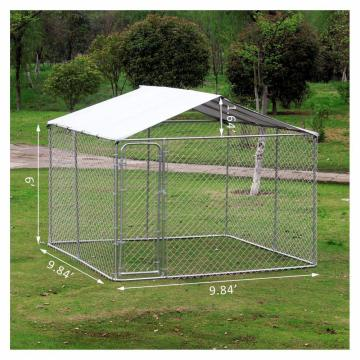 Outdoor Large Dog Cage playing chain link kennel