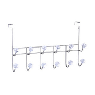 Over Door Hanging Rack with 6 Double Hooks