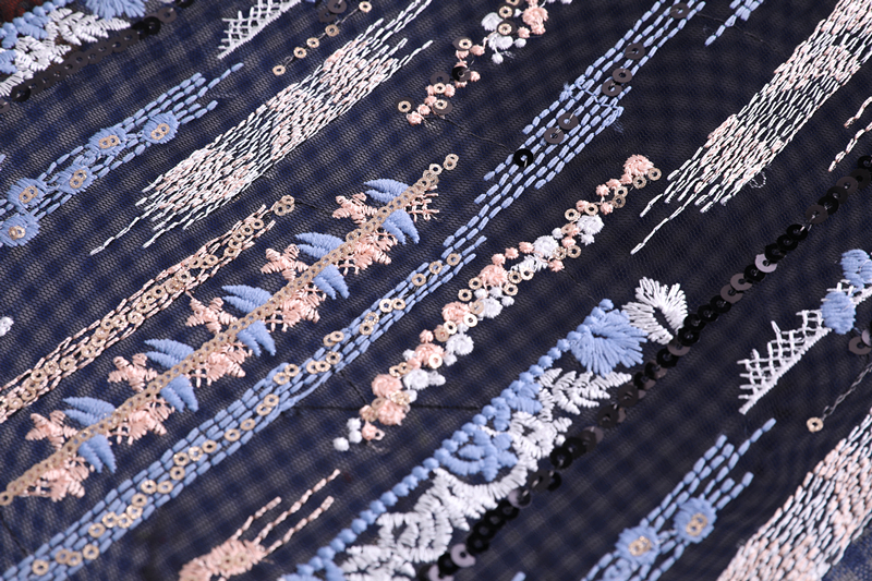 5mm Spangle Embroidery Fabric