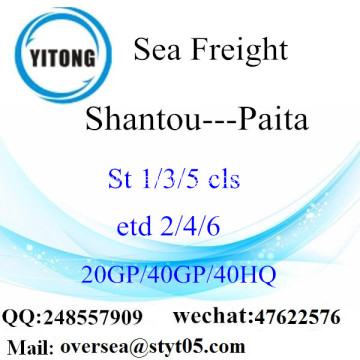 Shantou Port Sea Freight Shipping To Paita