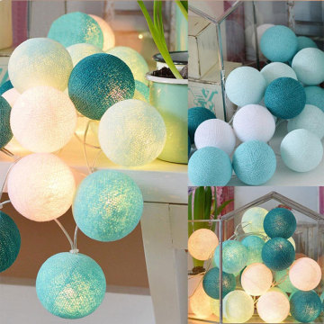 China Factory for Cotton Ball Fairy Lights Battery Colored Cotton Balls Light For Christmas export to Croatia (local name: Hrvatska) Manufacturer
