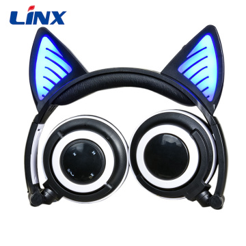 Leading for Cat Headphone Handsfree On Ear Headphones Stereo Cat Headset export to Guinea-Bissau Supplier