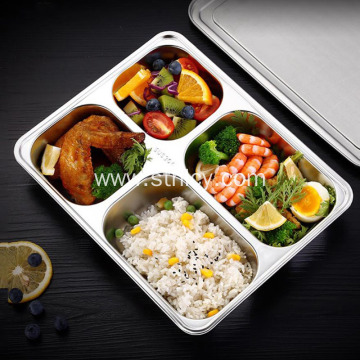 Stainless Steel Dining Hall Lunch Boxes