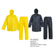 Leading for PVC Raincoat pvc polyester raincoat set export to United States Factory