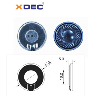 32mm pattern 8ohm 0.5w miniature mylar speakers