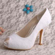 Wedopus Lace Wedding Shoes Bridal