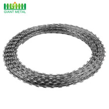 Galvanized Stainless Steel Concertina Coil Razor Barbed Wire