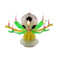 Flat Bottom Rotatory Celebrated Football Candle