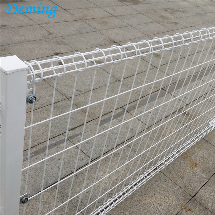 Powder Coated Double Loop Welded Wire Garden Fence