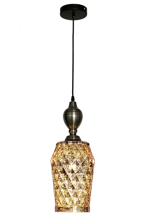 E27 Rose Gold Retro Chandelier