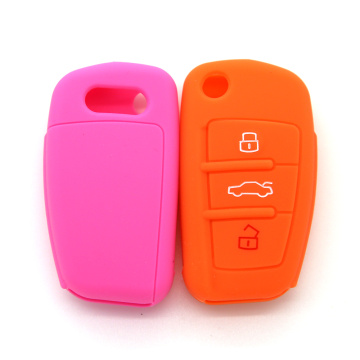 Silicone audi key fob case for A6L