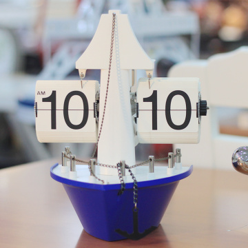 Study Living Room Sailboat Desk Flip Clock