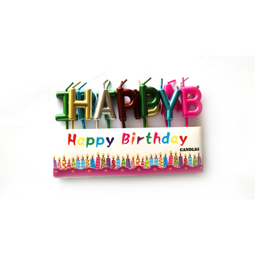 Colorful Letter HAPPY BIRTHDAY Candle