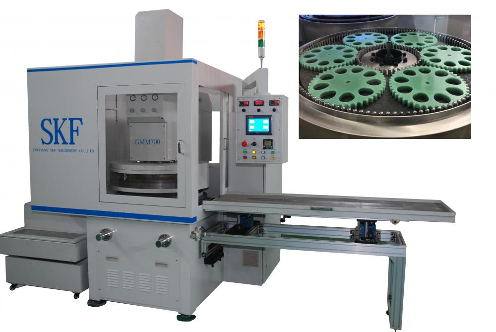 Semiconductor component surface grinding and lapping machine
