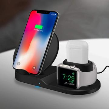 3in1 Fast Wireless Charger For Qi Smartphones