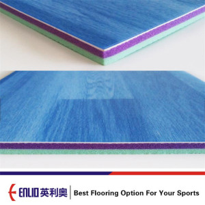 Durable PVC maple wood floor for futsal