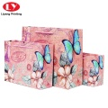 Flowers printing shopping paper bags