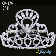 3 Inch Rhinestone Pageant Crowns CR-176