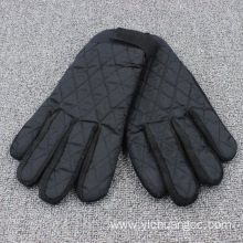 Casual embroidery high quality fabric waterproof mens glove