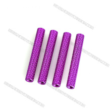 Custom aluminum spacer female threaded round standoff